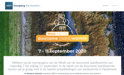 Webinar – Sustainable geothermal heat for the Netherlands, Sept. 8, 2020 (in Dutch)