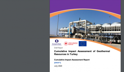 Draft Report – Cumulative Impact Assessment of Geothermal Resources in Turkey, EBRD