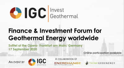 IGC Invest Geothermal, Frankfurt/ Germany & Online – September 17, 2020