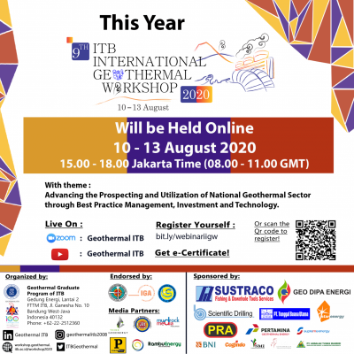 ITB Bandung Int'l Geothermal Workshop Webinar, August 10-13, 2020