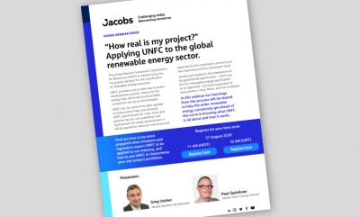 """How real is my project?"" – Webinar Aug. 27, 2020 on applying UNFC to renewables and geothermal"