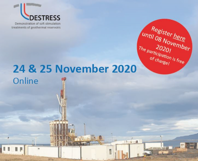 DESTRESS – demonstration of soft geothermal stimulation – final conference, Nov. 24-25, 2020