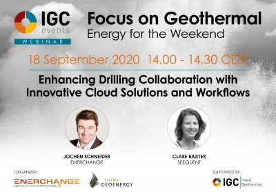 Webinar – Enhancing drilling collab. with cloud solutions and workflows, Sept 18, 2020