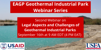 Webinar – Legal Aspects & Challenges of Geothermal Industrial Parks, Sept. 16, 2020