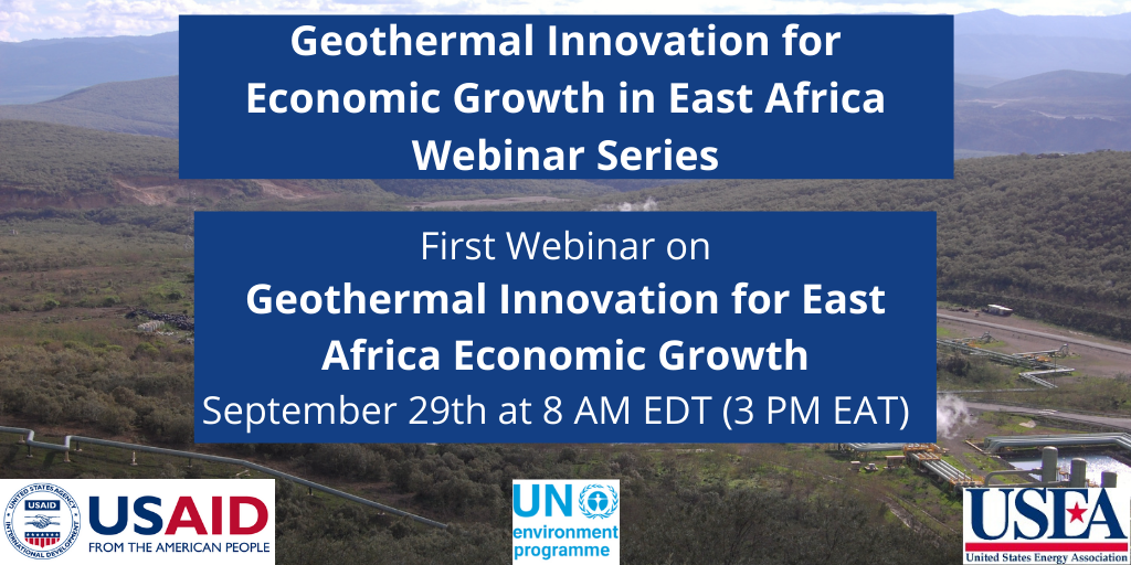 Webinar – Geothermal innovation for economic growth in East Africa, Sept. 29, 2020