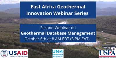 East Africa Webinar Series – Geothermal Database Management, Oct. 6, 2020