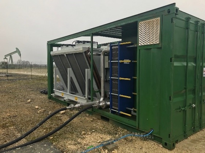 Producing electricity from oil wells – early results from field test in France