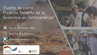 Webinar – GIZ/ SICA Geothermal Development Project in Central America, Oct. 22, 2020