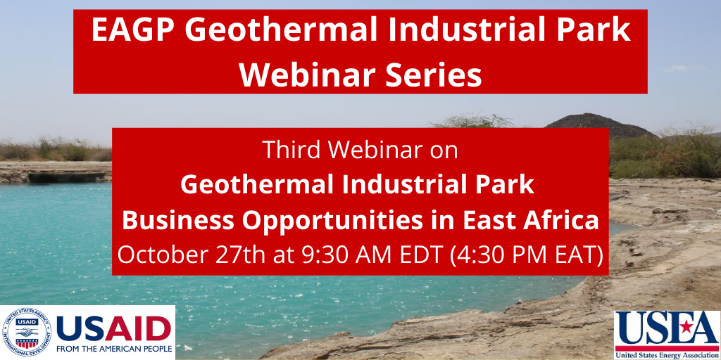 Webinar – Business opportunities in geothermal industrial parks in East Africa, Oct 27, 2020