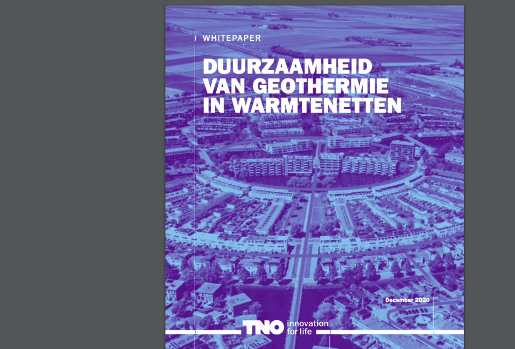 TNO whitepaper – Sustainability of geothermal energy in heat networks