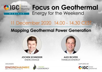 Webinar – Mapping geothermal, our geothermal power plant map, Dec. 11, 2020