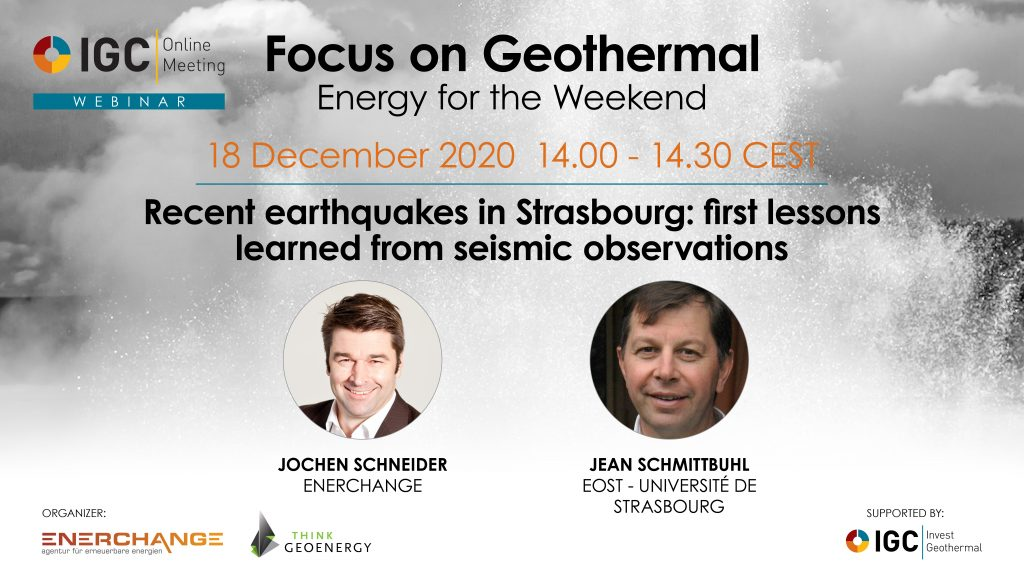 Webinar – Recent earthquakes in Strasbourg, first lessons learned, Dec. 18, 2020