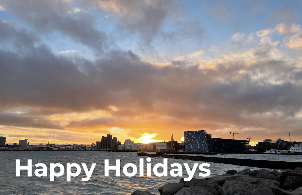 Happy holidays and all the best for the new year
