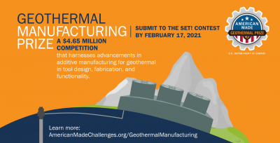 Expert Reviewers Needed in Geothermal Manufacturing Prize