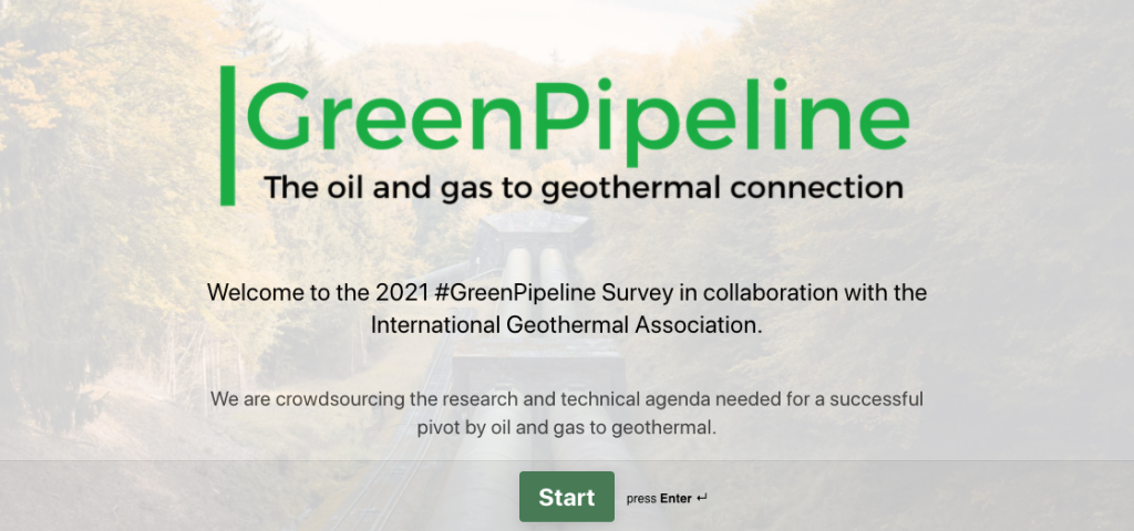 Survey #GreenPipeline – cataloguing agenda for pivot by oil and gas to geothermal