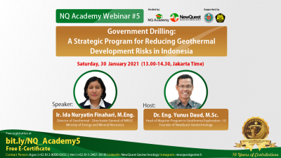 Webinar – Indonesian government-lead geothermal drilling program, Jan 30, 2021