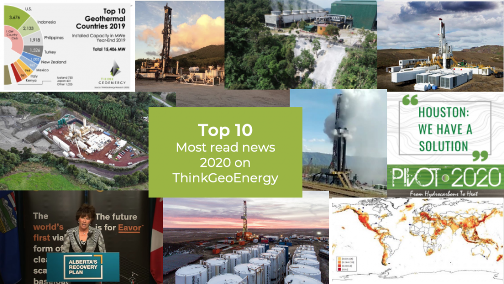 The top 10 most read geothermal news of 2020 on ThinkGeoEnergy