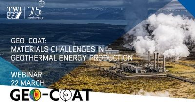 Webinar – Geo-Coat, materials for geothermal production – March 22, 2021