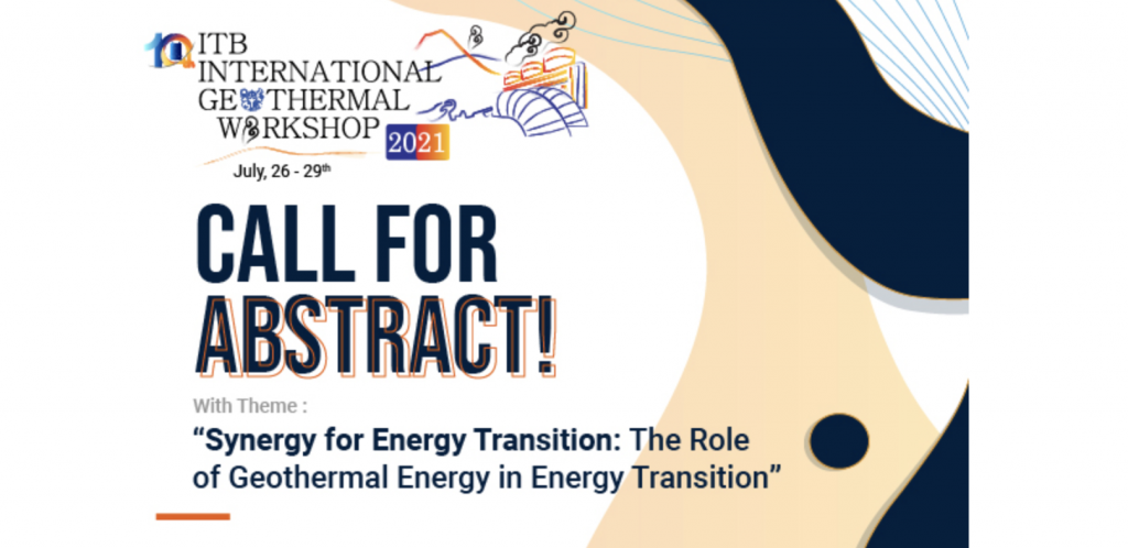 Call for Abstracts – ITB Int'l Geothermal Workshop, Bandung, Indonesia