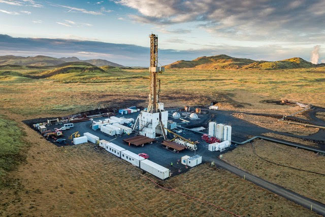 Iceland drilling rig Thor on site in Hverahlid
