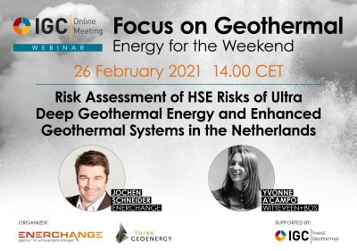 Webinar – HSE Risk Ass. Geothermal & EGS, Netherlands, Feb. 26, 2021