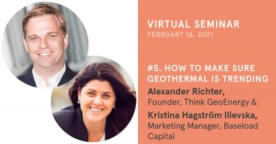 Trends, media, marketing and geothermal, virtual seminar Feb. 16, 2021