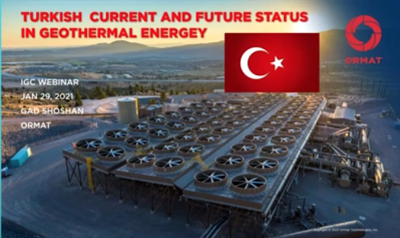 Webinar recording – Recent installations, and the future of geothermal in Turkey – Gad Shoshan, Ormat