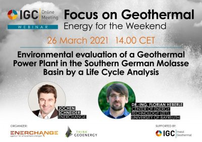 Webinar – Environmental evaluation geothermal plants, March 26, 2021