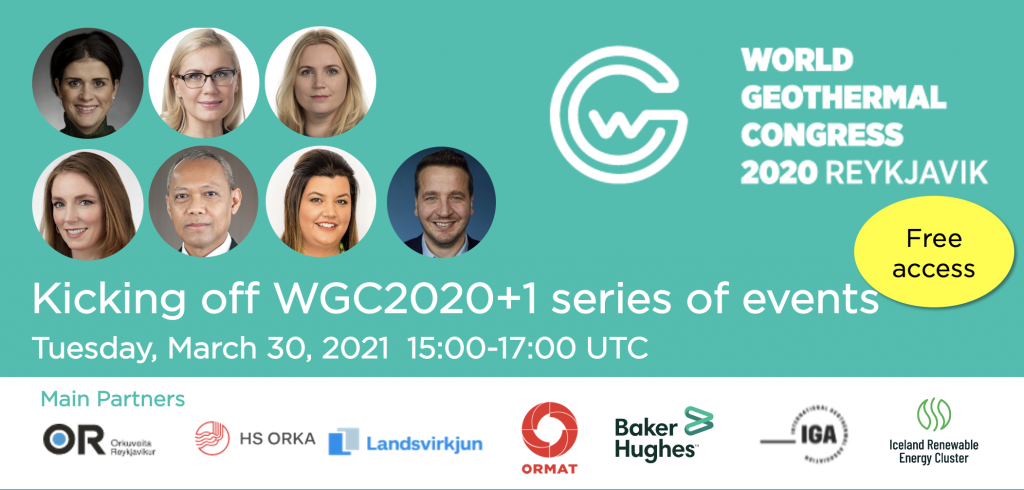 Don't miss open kick-off for WGC2020+1, March 30, 2021