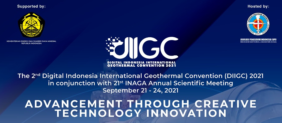 3 days to the Digitial Indonesia Intl Geothermal Convention, Sept 21-24, 2021
