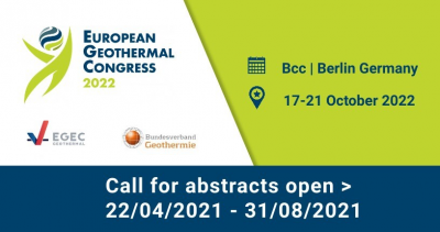 European Geothermal Congress 2022 – Call for Abstracts