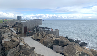 Architecture – Sea-side geothermal bath, Akranes, Iceland