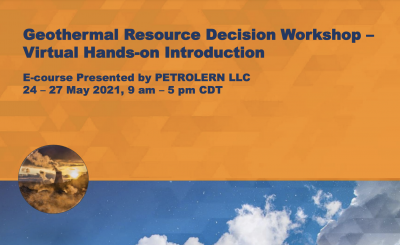 Workshop – Geothermal Resource Decision, May 24-27, 2021