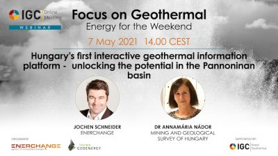 Webinar – Hungary's interactive geothermal platform, May 7, 2021