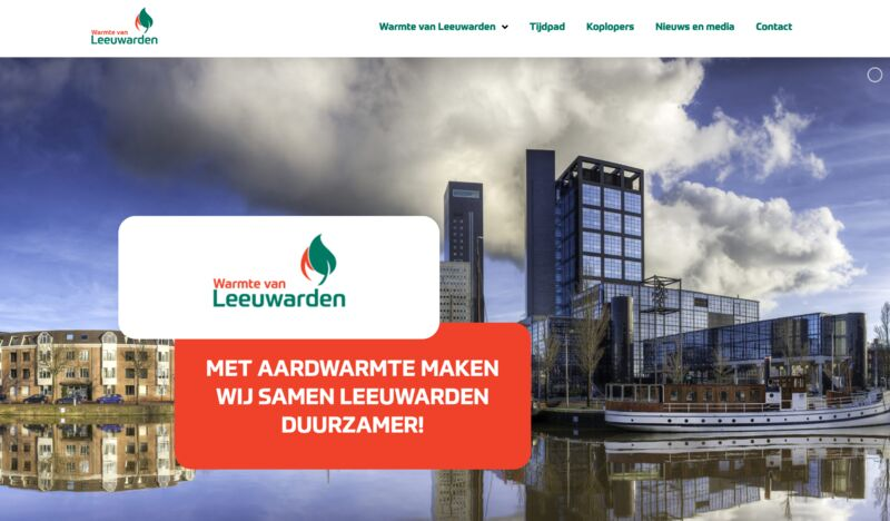 Official start of the Leeuwarden geothermal heat project, Netherlands