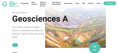 Geosciences days WGC2020+1 virtual event days, May 11-12, 2021