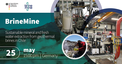 Webinar – mineral & water from geothermal brine, Chile, May 25, 2021