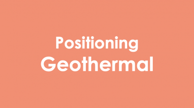 Positioning geothermal – time to unify our industry's messaging