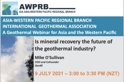 Webinar – Mineral recovery future of geothermal? July 9, 2021