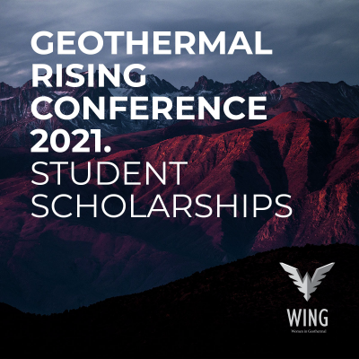 WING student scholarships – Geothermal Rising Conference 2021
