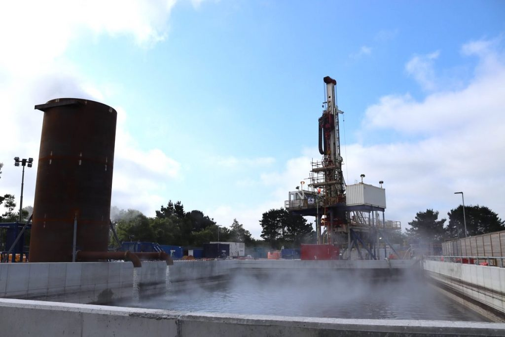 First steam at United Downs geothermal project, UK