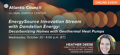 Decarbonizing homes with geothermal heat pumps, Oct. 20, 2021